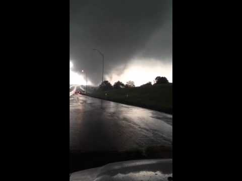 Had to pull over to keep from being blown away! Tornado, Arlington TX: youtube user wes stevens