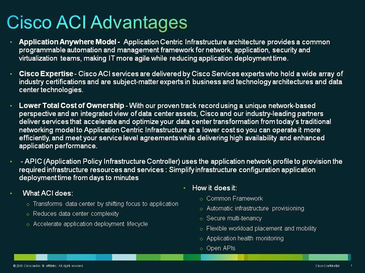 Cisco ACI Advantages | ACI - Sales Playbook | Pinterest
