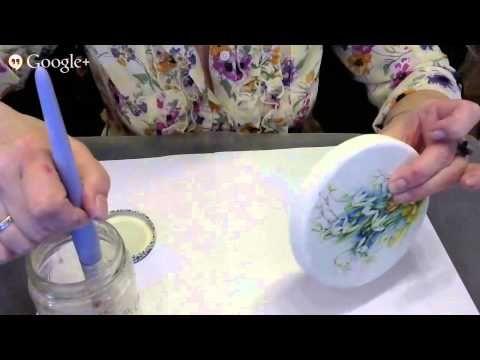 24 день Международного Декупажного Марафона - YouTube Анна Турчина Кружевная шкатулка