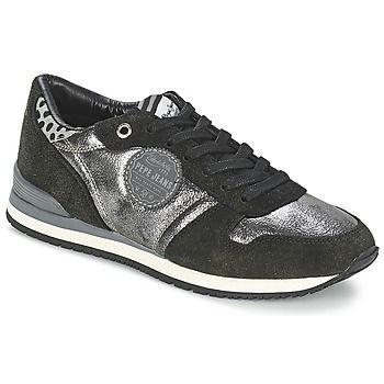 La zapatilla baja es la estrella urbana de la marca Pepe jeans. Nos gusta por su diseño original, su corte en piel y su color negro. Forrado en textil, gracias al modelo Gable estaremos a gusto de la mañana a la noche. Entre sus detalles sport y su diseño con clase, ¡lo tiene todo para gustarle a las urbanas! #zapatillas #deportivas #sneakers #baskets #mujer #pepejeans http://www.spartoo.es/Pepe-jeans-GABLE-x1586601.php
