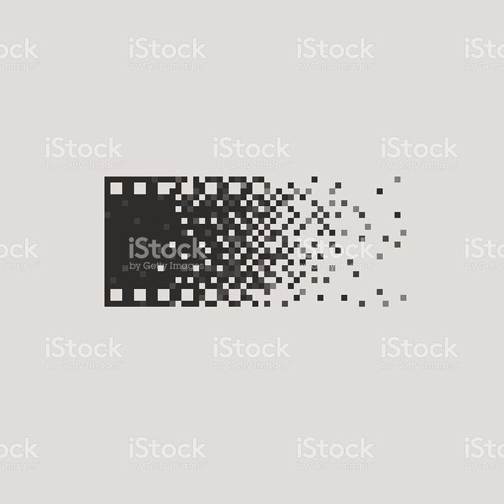 Photo logotype concept analogue digital versus film photography logo photographer royalty-free stock vector art
