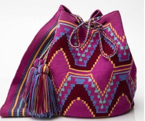 Wayuu torba w pięknych kolorach w indiańskim stylu