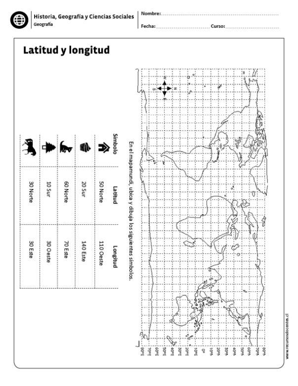 Latitud y longitud