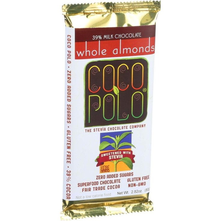 Coco Polo Chocolate Bar - 39 Percent Milk Almond - Case Of 10 - 2.82 Oz Bars