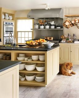 Michael Homchick Stoneworks: COLORFUL Painted kitchen cabinets · Martha  Stewart ...