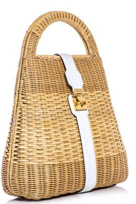 Mark Cross Man Ray Wicker Basket Bag