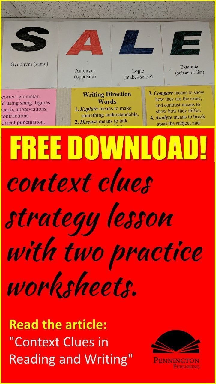 Context Clues In Reading And Writing Pennington Publishing Blog Teaching Reading Strategies Context Clues Improve Reading Comprehension [ 1280 x 720 Pixel ]