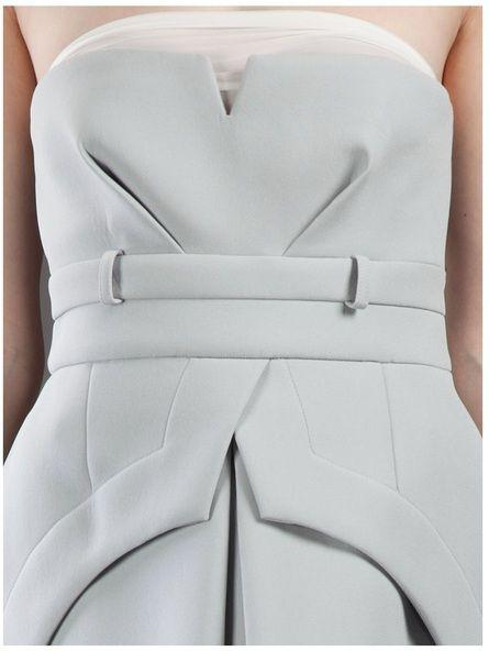 Gorgeous structure! #fashion #tailoring #white