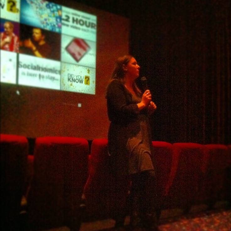 Amanda, our Web and Social Media Officer, gives a presentation to a senior club at Hoyts Cinema about how the Council uses different social media platforms to engage and communicate with the community and its stakeholders. @cityofsalisbury #socialmedia #socmed
