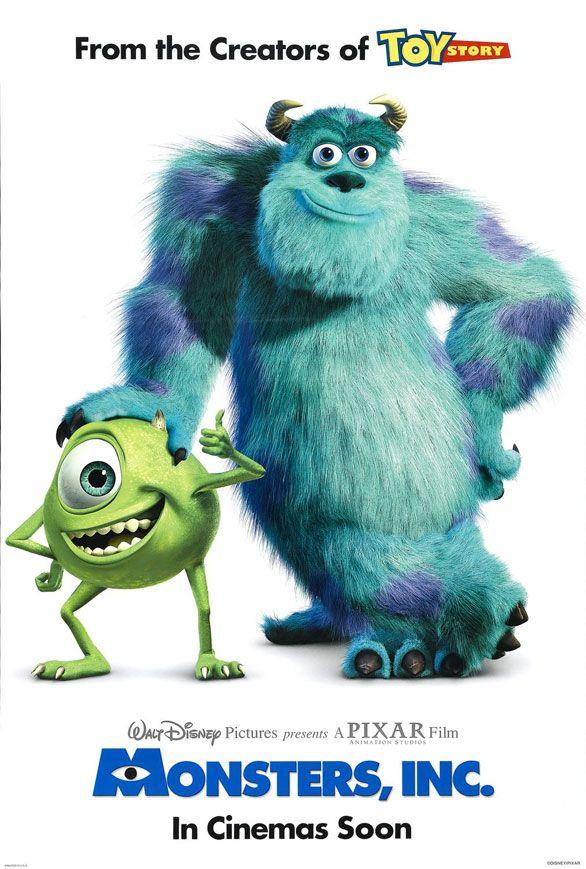 Sevimli Canavarlar 1 - Monsters, Inc - 2001 - DVDRip Film Afis Movie Poster