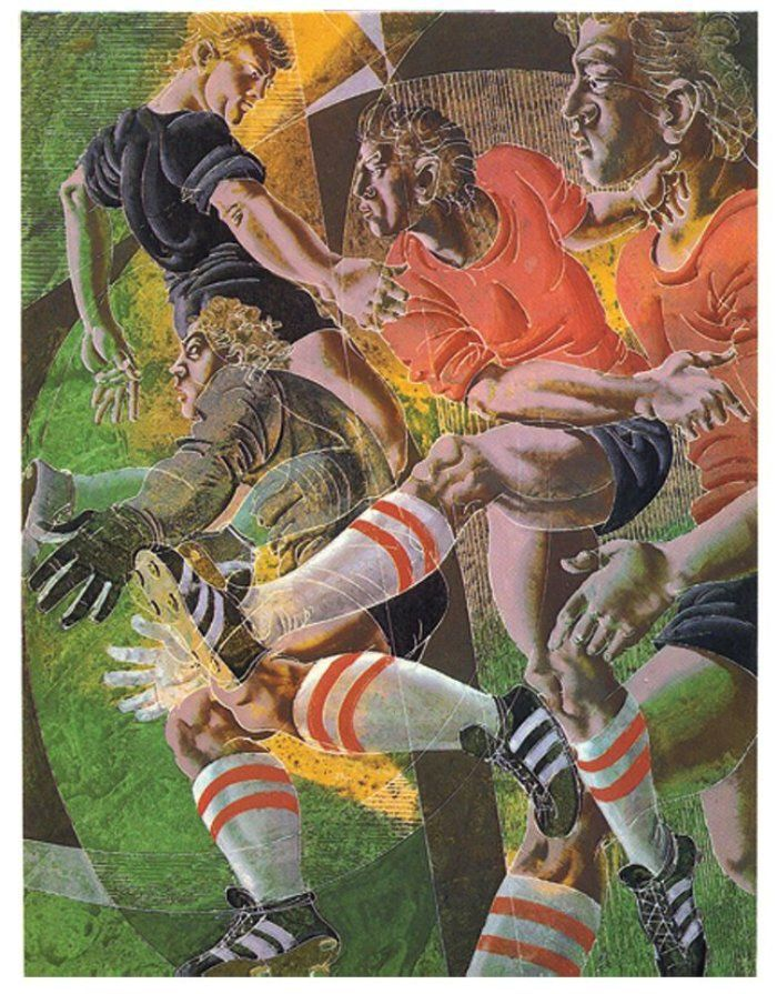"""Football"" by Hans Erni (1983)"