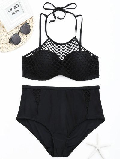 SHARE & Get it FREE | Fishnet Overlay Underwire Plus Size Bikini Set - Black 2xlFor Fashion Lovers only:80,000+ Items • New Arrivals Daily Join Zaful: Get YOUR $50 NOW!
