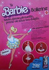 Publicité papier / barbie ballerine Mattel