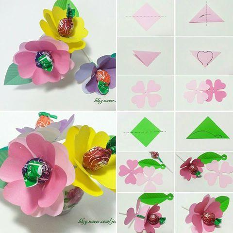 Május Gyereknap, Anyák napja, Pedagógus nap, hogy édes cukorka virág origami ajándék ~ # # # konfetti cukorka édesség csokor # # # papírvágási Art Gyermek Művészeti # # játszani illusztráció #arts #origami #kirigami #papercutting #paperartwork # childrensart #paperflower #candy #fun # hobby # merített #papercraft #kidscrafts #creativekids