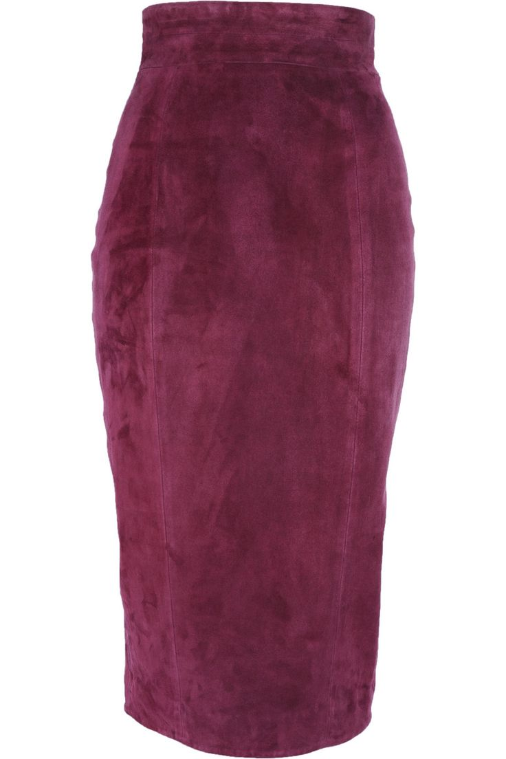 L'Wren Scott Suede pencil skirt | Zyla Classic Winter | Pinterest ...