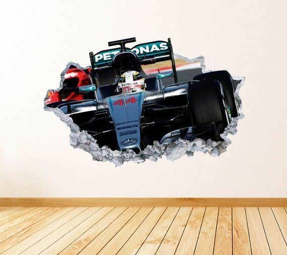 Formula 1 Wall Art Decal Mercedes Theme Wall Decor Bedroom Vinyl
