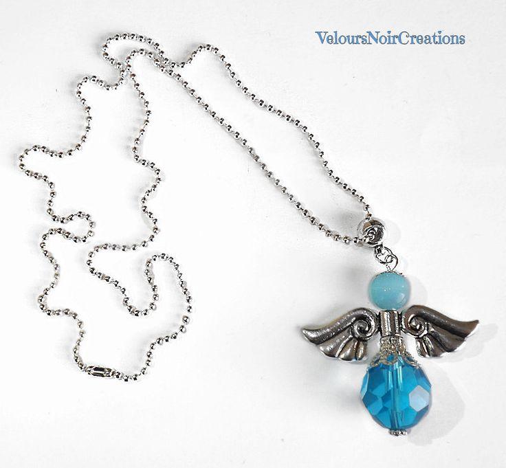 blue angel necklace  , by Velours Noir Crèations, 17,00 € su misshobby.com