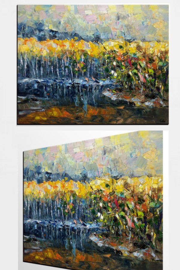 Landscape Painting Contemporary Art Original Painting For Sale Autumn Tree Painting Hand Painting Art