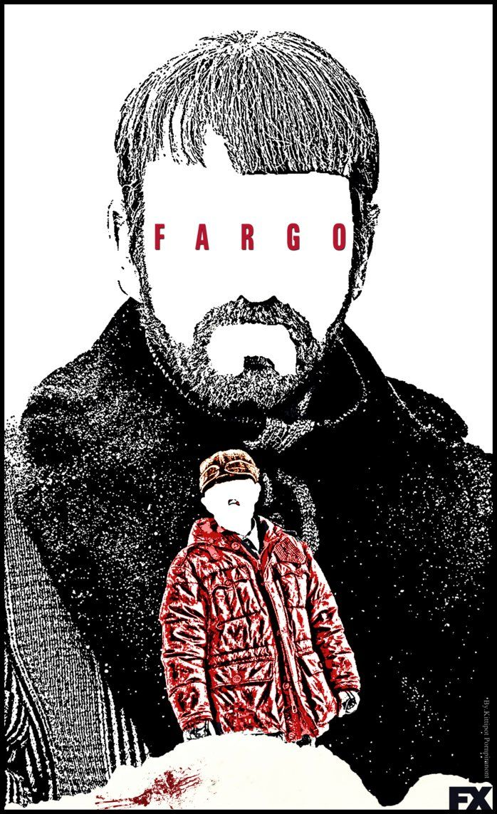 Fargo Series poster FANMADE by PluemKP on DeviantArt Lorne Malvo and Lester Nygaard.