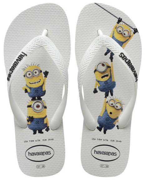 Havaianas Minions Flip Flops -  White