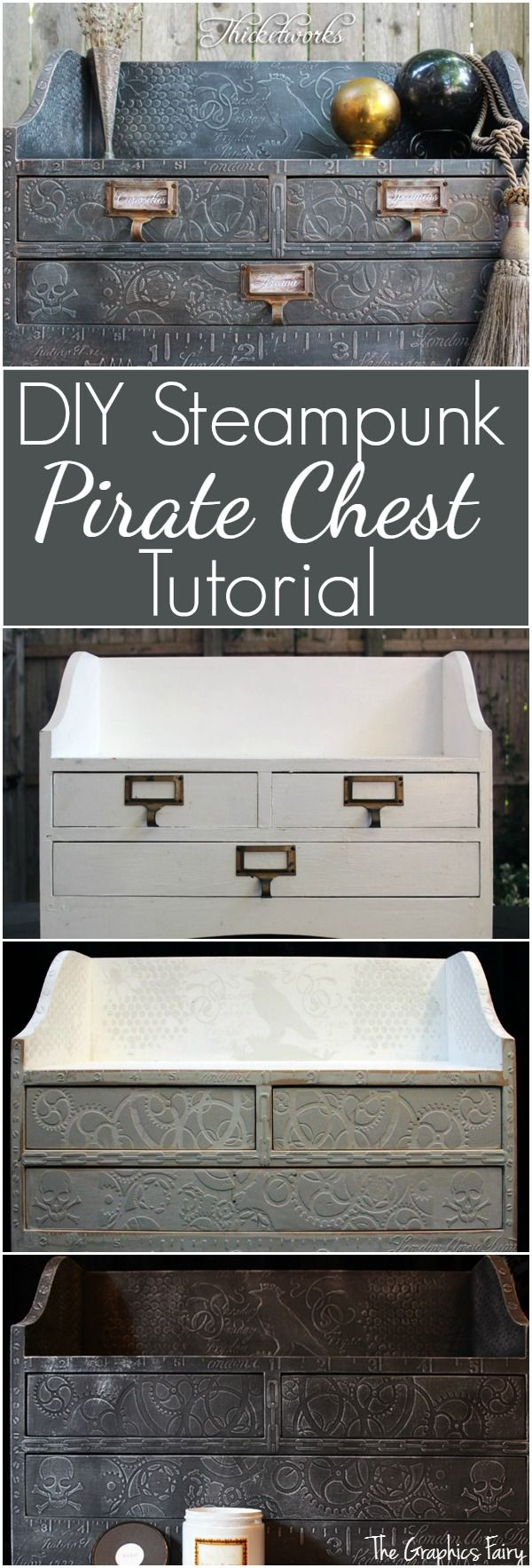 DIY Steampunk Pirate Chest Tutorial - The Graphics Fairy