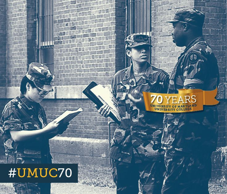 In the mid-1990s, three quarters of all European Division students were active-duty members of the military. #ThrowbackThursday #umuc70