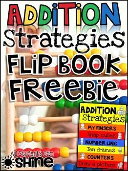 Addition Hands-On Strategies Flap Book FREEBIE