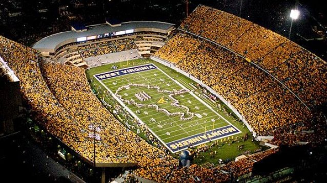 WVU Football  Morgantown on game day!