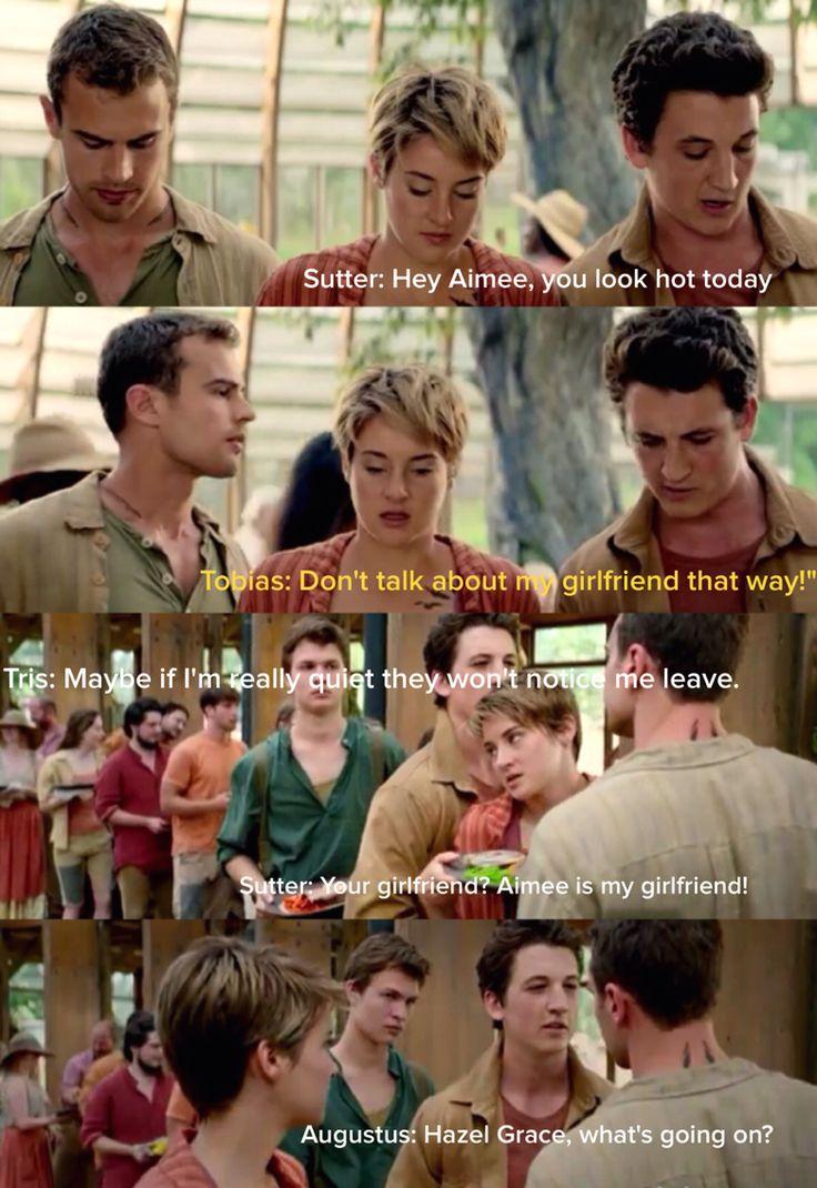 TFIOS, Spectacular Now, Divergent