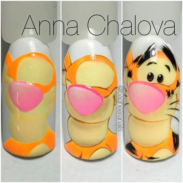 Nails Tiger tutorial by Anna Chalova