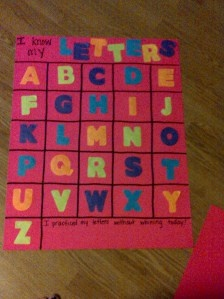 Learning letters toddler style