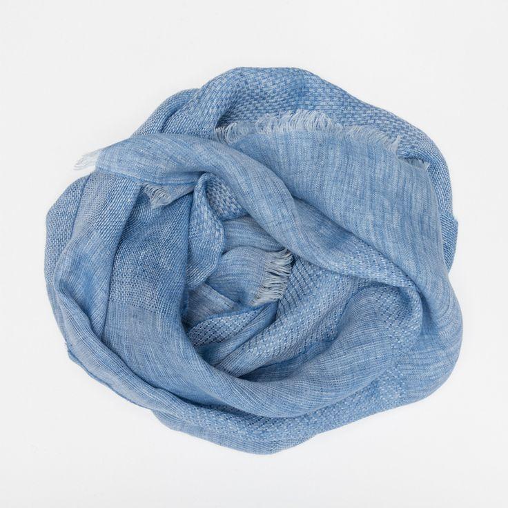 #echarpe #lin #bleu #blue #madeinfrance #madeinitaly #luxe #atelierparticulier