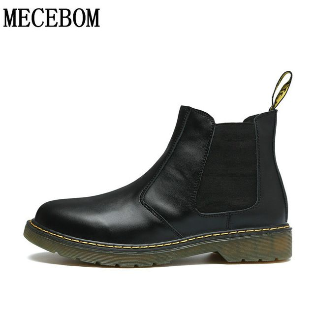 Buy now British motorcycle boots mens ankle boot men genuine leather casual shoes quality waterproof plus size 38-47 6117 just only $30.93 - 33.78 with free shipping worldwide  #menshoes Plese click on picture to see our special price for you