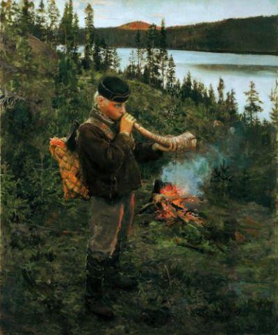 The Shepherd of Paanajärvi, 1892, Akseli Gallen-Kalela