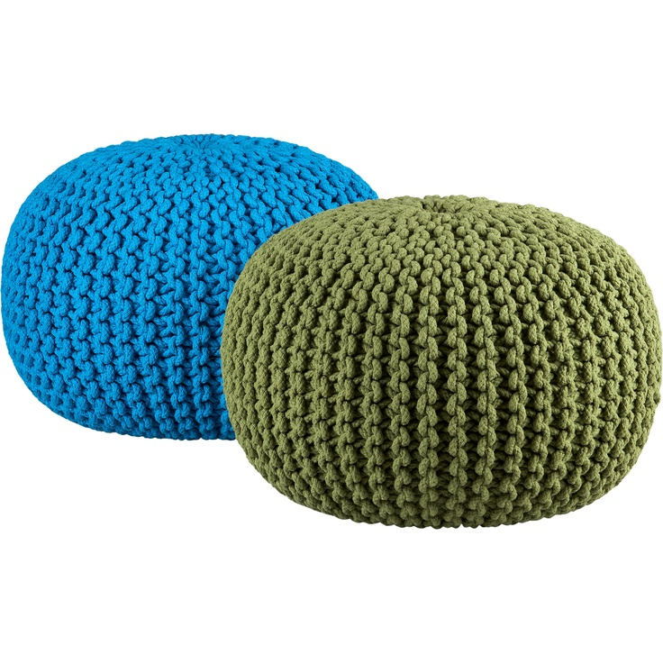 Knitted Poufs Chairs Bench Couch Stools And Ottomans