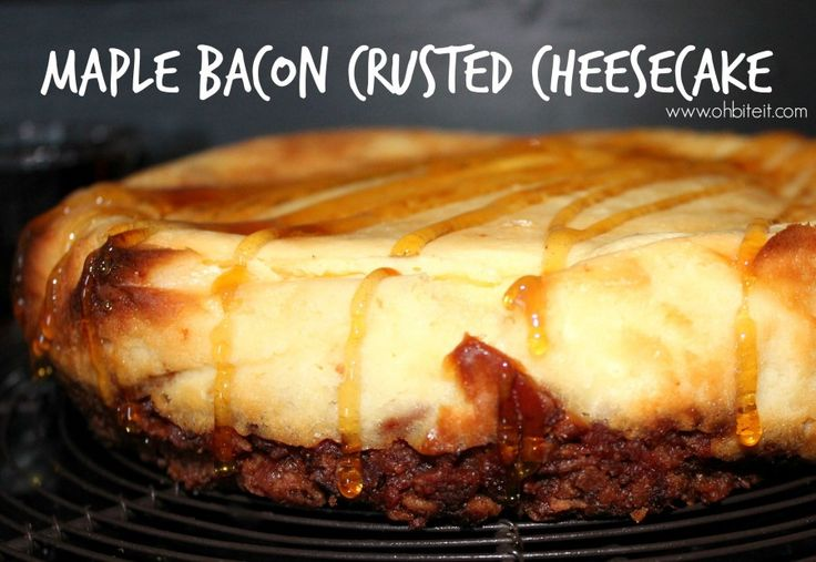 ~ Maple Bacon Crusted Cheesecake! | Oh Bite It