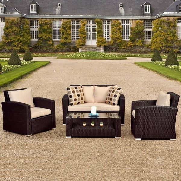 Treat Yourself To A Plush Outdoor Wicker Patio Set. Don't You Deserve It?