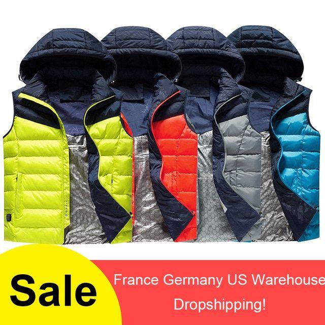 Vest Warm Winter Jacket Electric Outdoor Heating Coat Men Sports Hiking Skiing