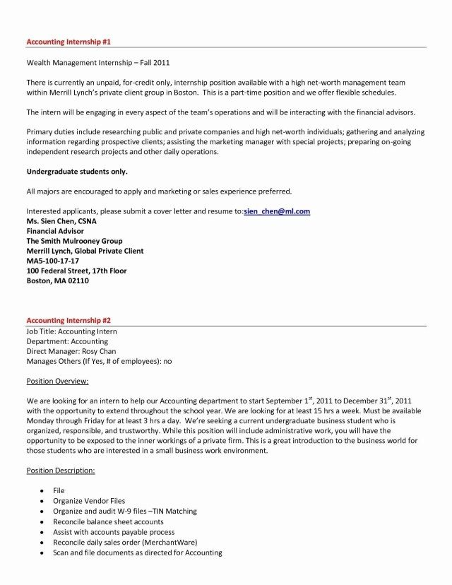 27+ Accounting Internship Cover Letter . Accounting Internship Cover ...