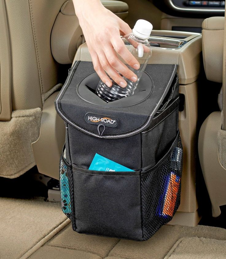 High Road StashAway Car Trash Can with Lid and Storage Pockets, Garbage Cans - Amazon Canada
