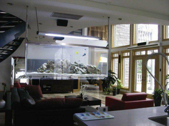 78 id es propos de aquarium mural sur pinterest aire for Meuble sejour pas cher