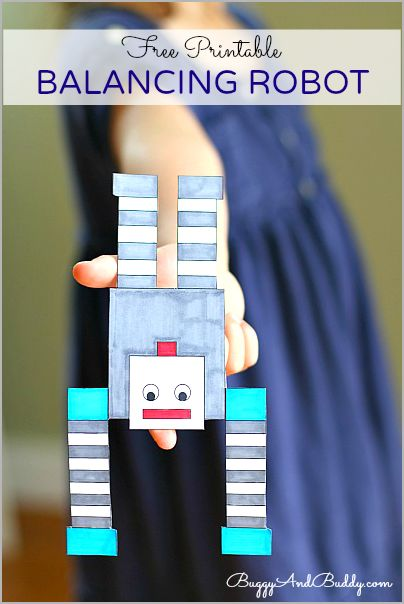 Such a cool way to explore balance and gravity! Science for Kids: Make a Balancing Robot! (FREE Printable)~ Buggy and Buddy