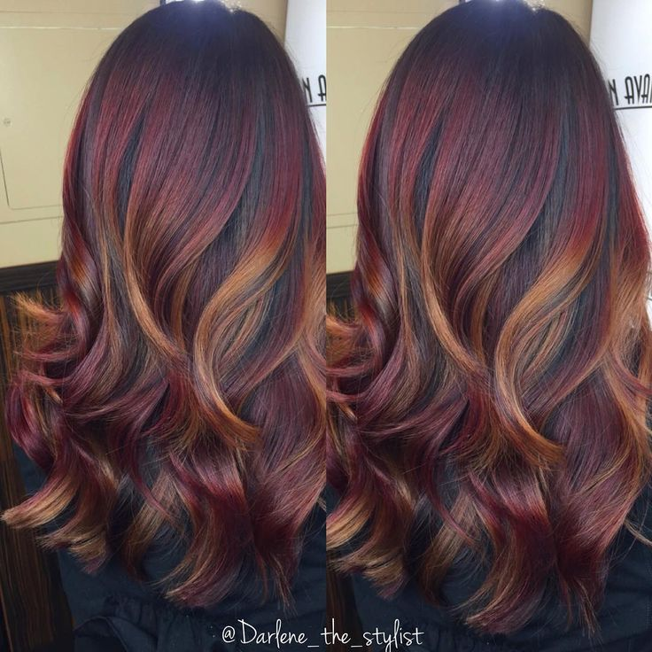 Tips On Blending Great Colors With Beige: Sunset Blend - Golden Balayage / Ombre #hair #color