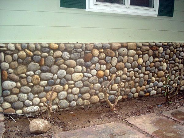 River Rock Wall | Noyo River Cobblestone, Ross, Marin County, CA