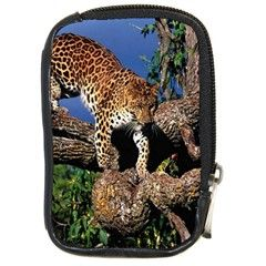 3 Dimention Kingdom Animal King Tree Climber Leopard Compact Camera Leather Case by WordArtGift