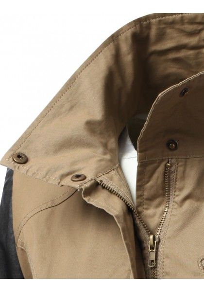 Anorak Jacket With Faux Leather Sleeves #jtomsonplussize