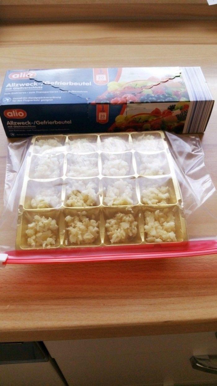 Klein Gehackten Knoblauch Einfrieren Einfrieren Gefullte Paprikaschoten Kuchen Einfrieren