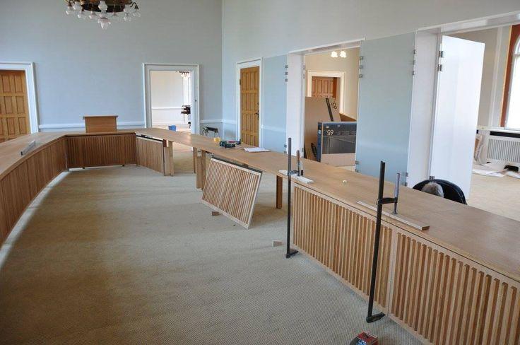 Handmade woodwork for the citycouncil in Vejle, Denmark  http://www.kjeldtoft.com/