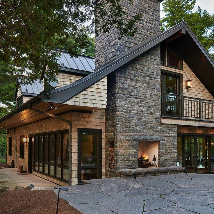 New exterior pics of a cottage renovation we compl…