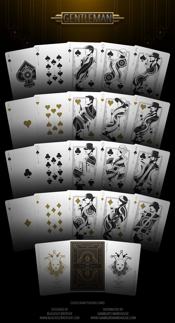 Bicycle Gentleman Playing Cards Deck by Playing Cards Dot Net — Kickstarter